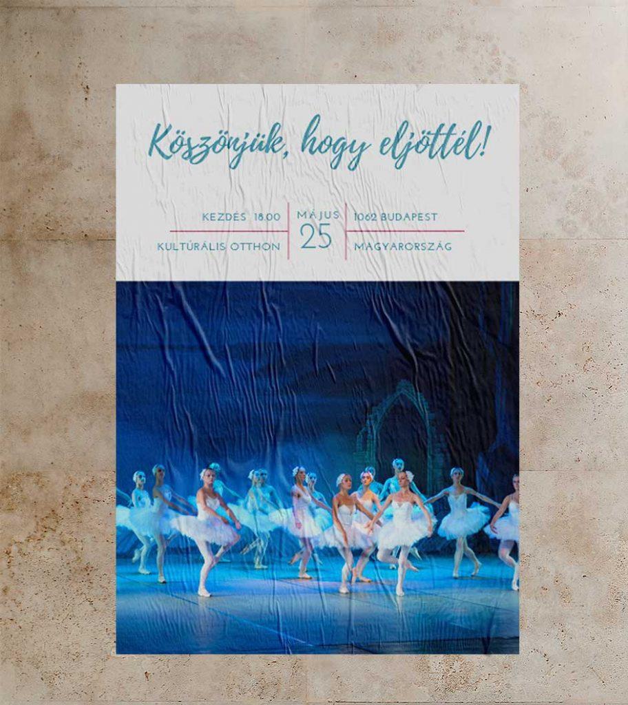 Balett előadás plakátja