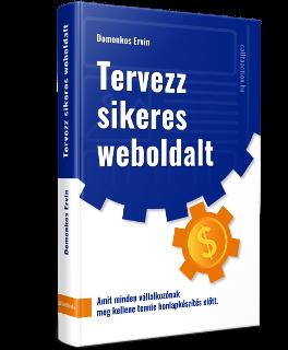 Tervezz sikeres weboldalt könyv borítója