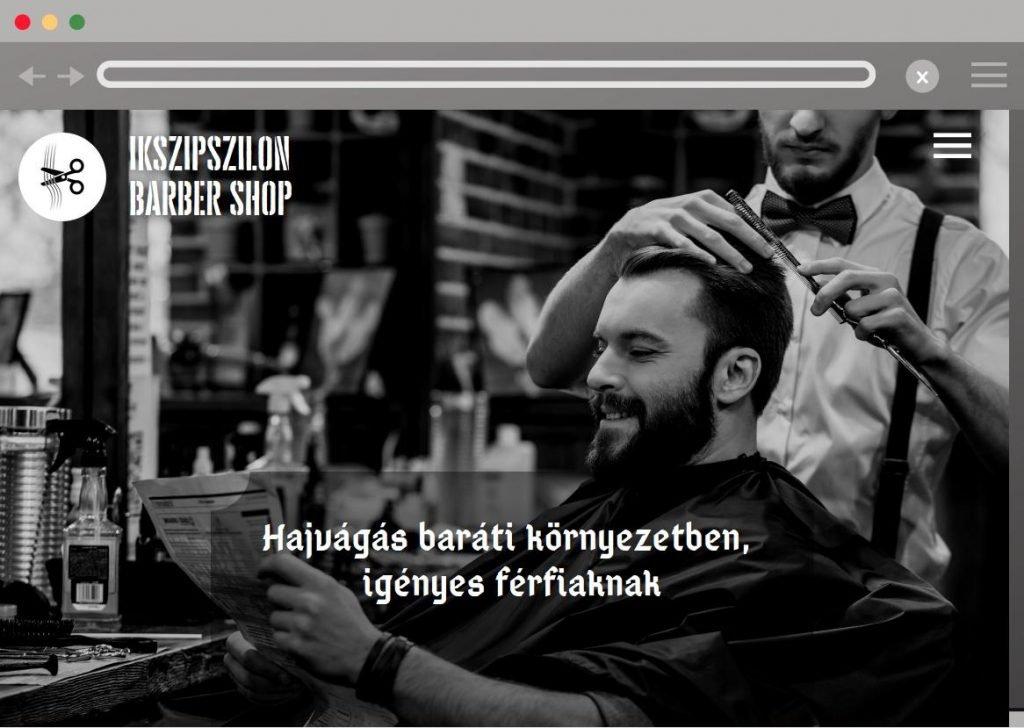 Barber shop honlap kezdőkép